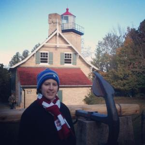 Me outside of Eagle Bluff Lighthouse